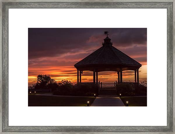 Sunset Gazebo Lavallette New Jersey Framed Print