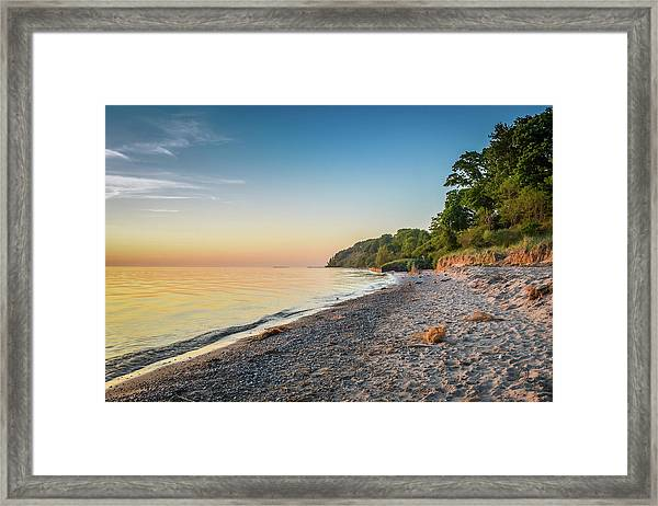 Sunset Glow Over Lake Framed Print