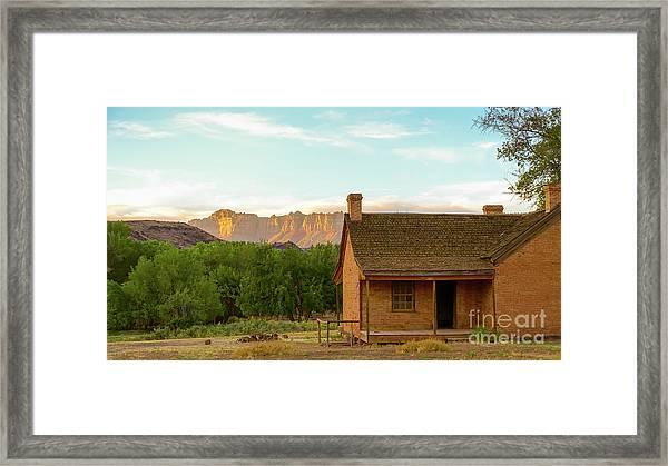Sunset Grafton Ghost Town Framed Print