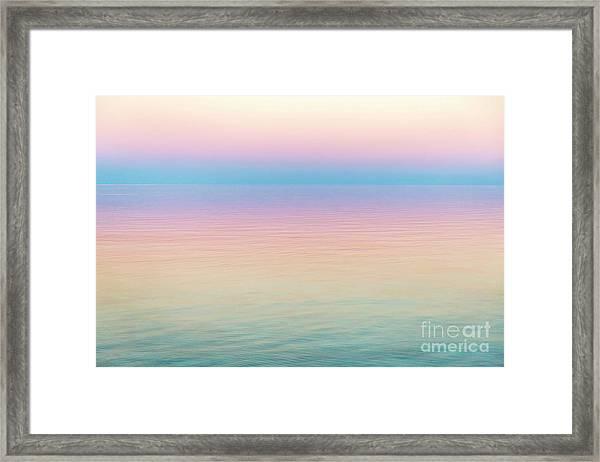 Sunset Hues In Rangiroa, French Polynesia Framed Print by Julia Hiebaum
