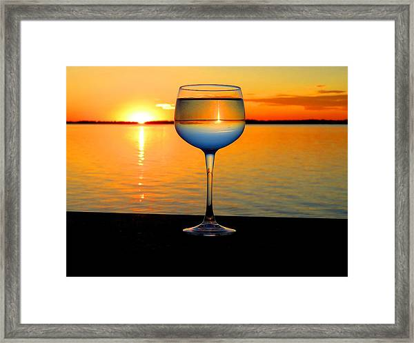 Sunset In A Glass Framed Print