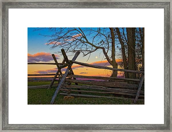 Sunset In Antietam Framed Print