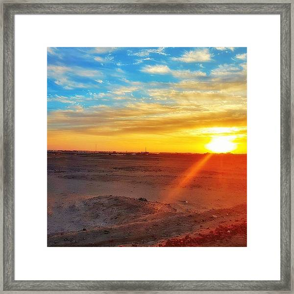 Sunset In Egypt Framed Print