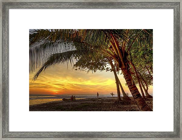 Sunset In Mal Pais Framed Print
