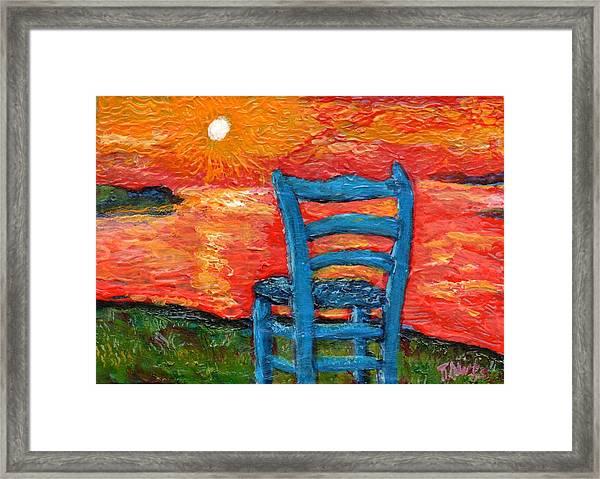 Sunset In My Mind  Framed Print