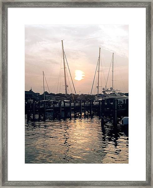 Sunset In Nantucket Framed Print