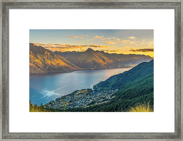 Sunset In New Zealand Framed Print
