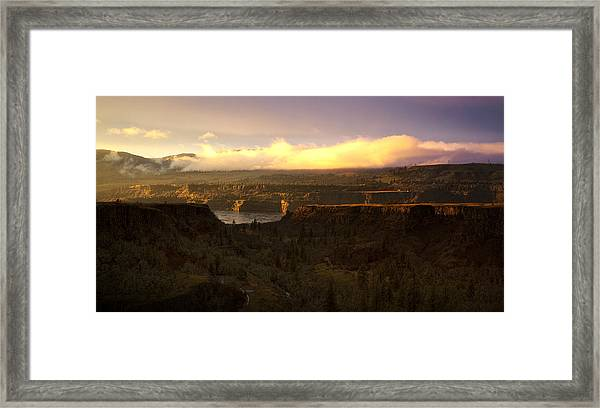 Sunset In Rowena Framed Print