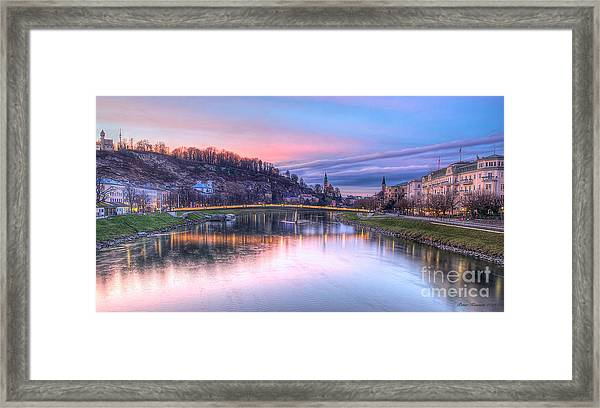 Sunset In Saltzburg Framed Print