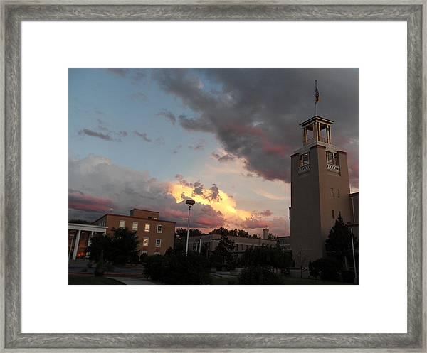 Sunset In Santa Fe Framed Print