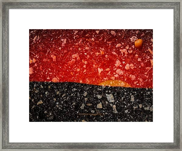 Sunset In Stone Framed Print