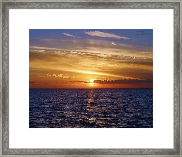 Sunset In Sw Florida Framed Print