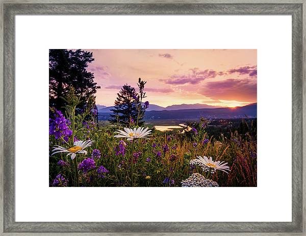 Sunset In The Kootenays Framed Print