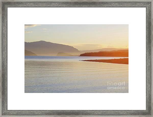 Sunset In The Mist Framed Print