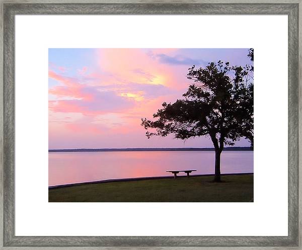 Sunset In The Pass Framed Print