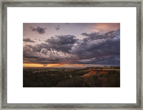 Sunset In The Red Hills Framed Print