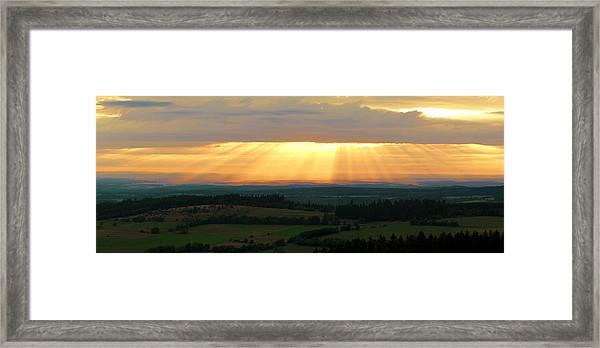 Sunset In Vogelsberg Framed Print