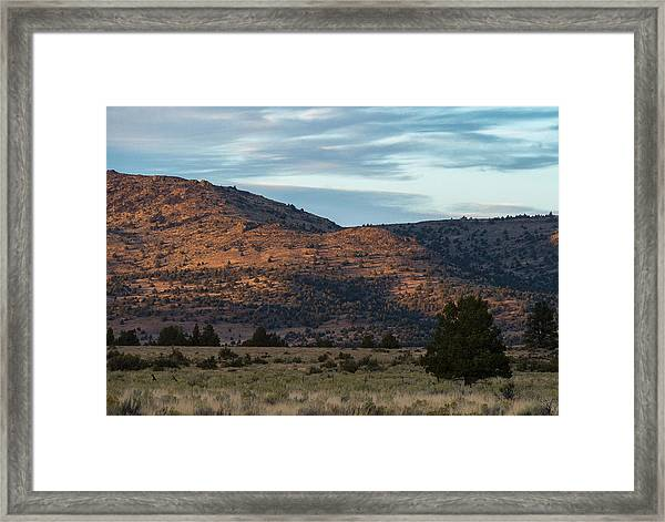 Sunset In Willow Creek Valley Framed Print by The Couso Collection