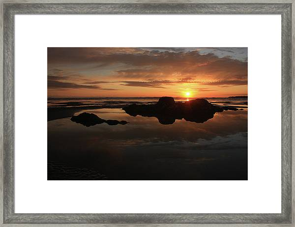 Sunset In Yachats Oregon Framed Print by Kami McKeon