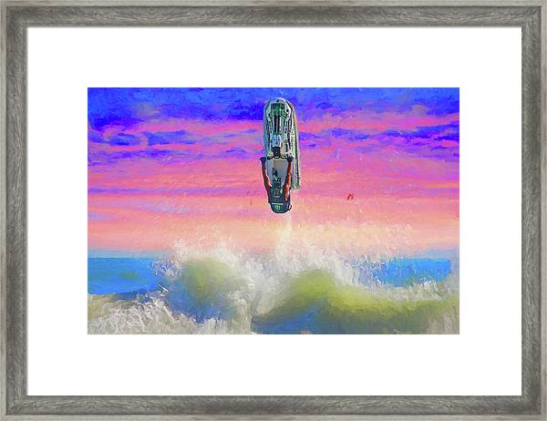Sunset Jumper Framed Print