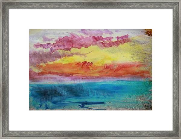 Sunset Lagoon Framed Print