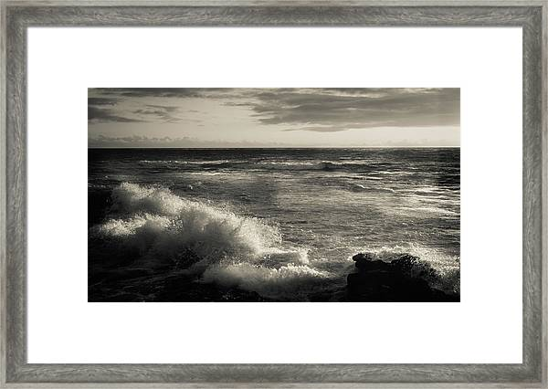 Framed Print featuring the photograph Sunset - La Jolla Cove by Samuel M Purvis III