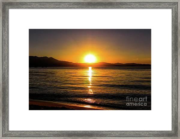 Sunset Lake 1 Framed Print