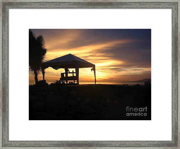 Sunset Massage Framed Print