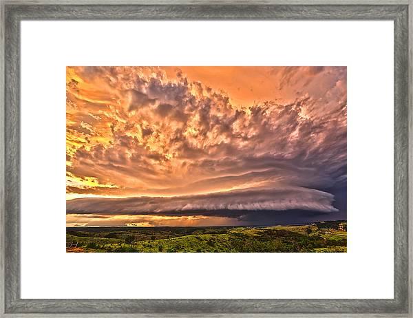 Sunset Mothership Framed Print