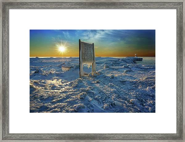 Sunset Of Frozen Dreams Framed Print