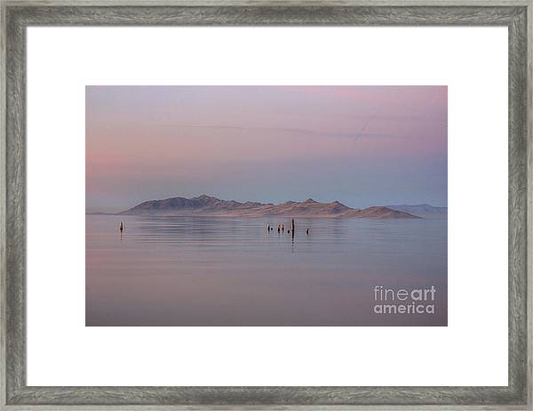 Sunset On Antelope Island Framed Print