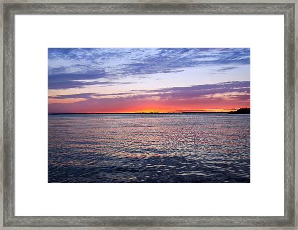 Sunset On Barnegat Bay I - Jersey Shore Framed Print