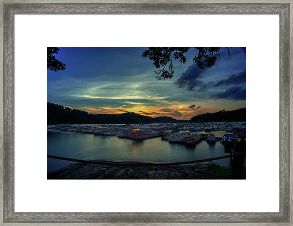 Sunset On Cheat Lake Framed Print