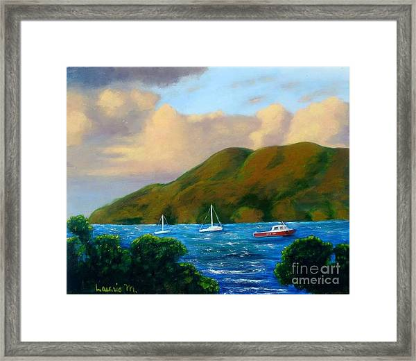 Sunset On Cruz Bay Framed Print