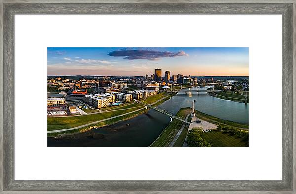 Sunset On Dayton Framed Print