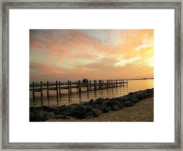 Sunset On Dewey Bay Framed Print
