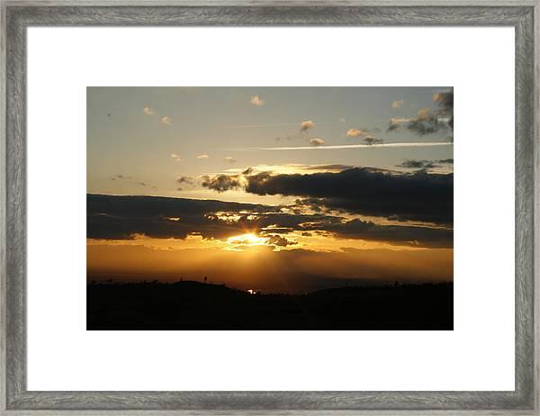 Sunset On Hwy 32 Framed Print