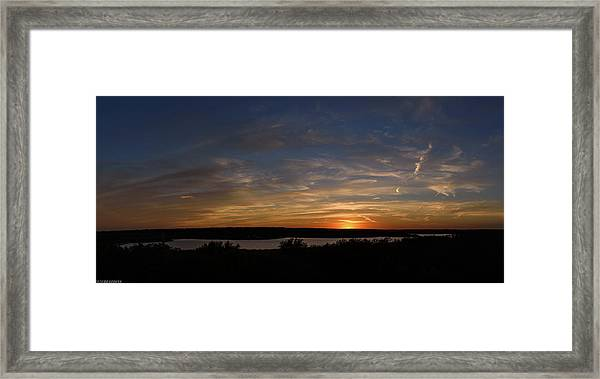 Sunset On Lake Georgetown Framed Print