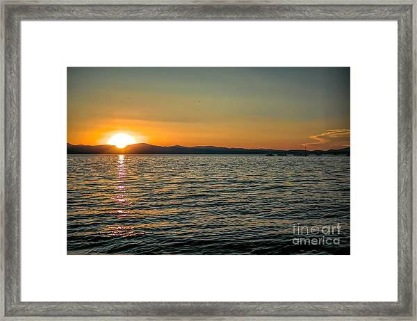 Sunset On Left Framed Print