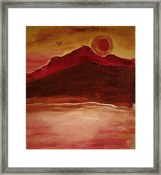 Sunset On Red Mountain Framed Print