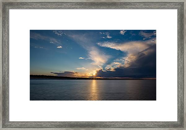 Sunset On The Baltic Sea Framed Print