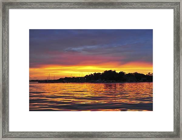 Sunset On The Bay Island Heights Nj Framed Print