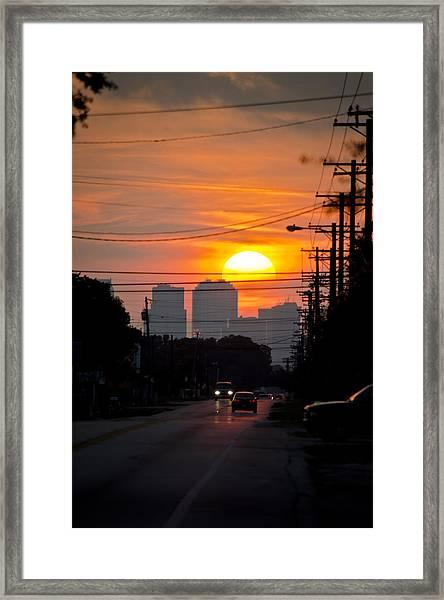 Sunset On The City Framed Print