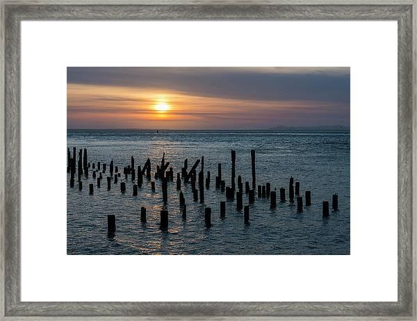 Sunset On The Empire Framed Print