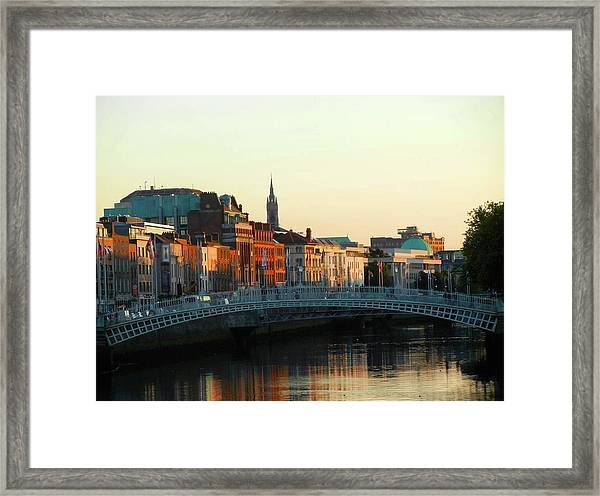 Sunset On The Ha'penny Framed Print