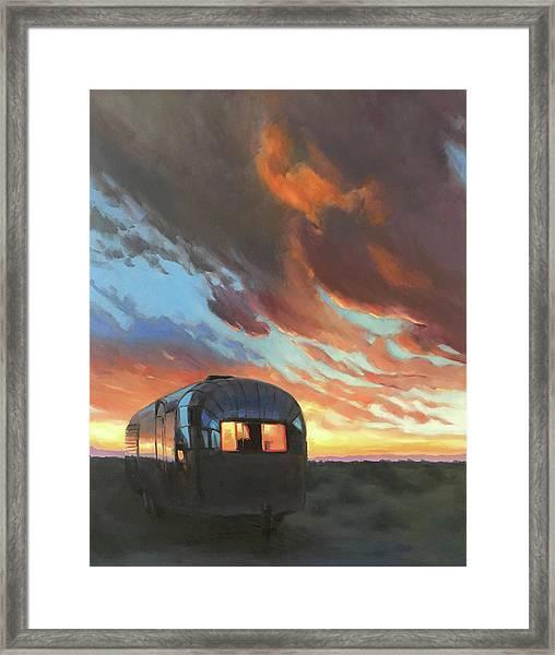 Sunset On The Mesa Framed Print