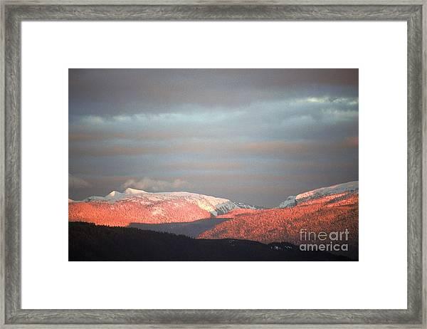 Sunset On The Monashees Framed Print