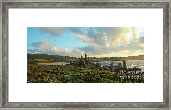 Sunset On The Pacific Ocean  Framed Print