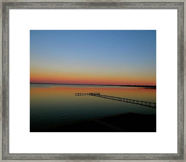 Sunset On The Pier Framed Print