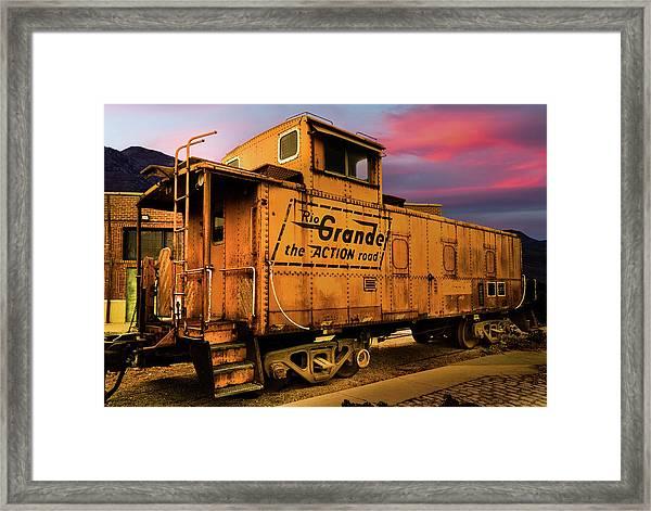Sunset On The Rio Grande Framed Print